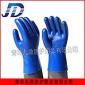 pvc蓝磨砂防滑工业手套